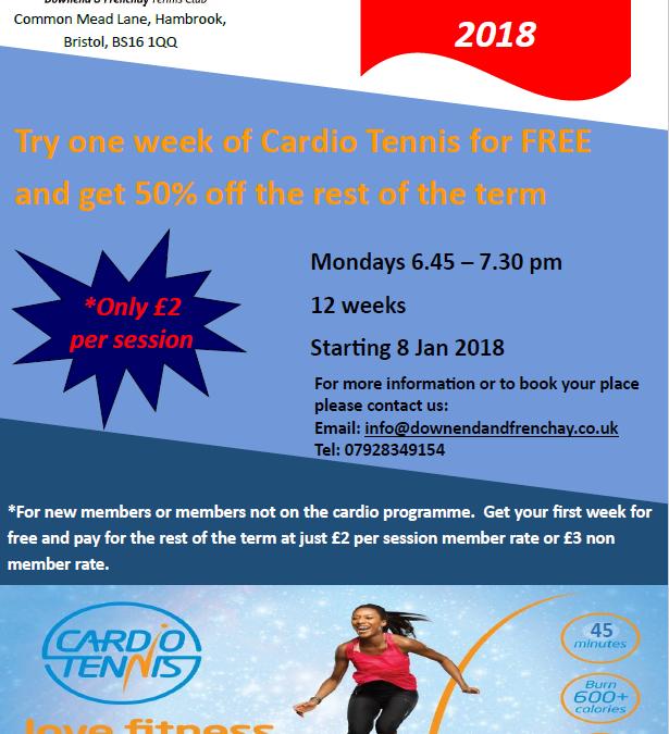 Cardio Tennis Promotion 2018